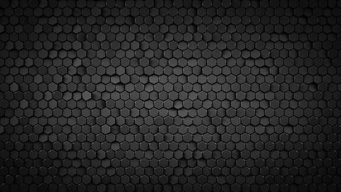 Black hexagonal background loopable abstract 3D animation Animation