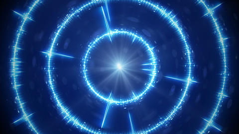 Digital blue audio form concentric circles seamless loop animation Animation