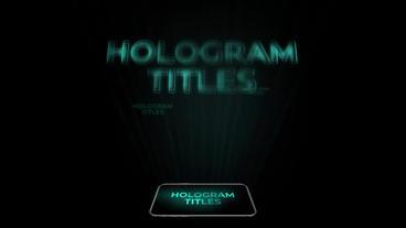 Hologram Titles Premiere Proテンプレート