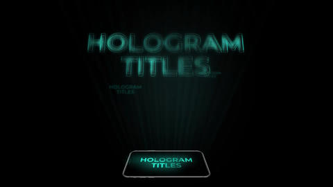 Hologram Titles Premiere Pro Template