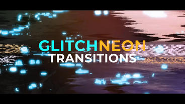 Glitch Neon Transitions Premiere Proテンプレート