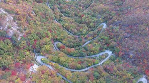 Aerial View of Ganwoljae in Sinbulsan Mountain, Uljugun, Ulsan, South Korea, Footage