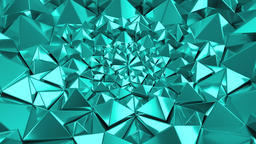 Turquoise Geometric Triangle Wall waving background. Seamless Loop 4K UHD Footage