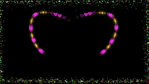 FRAME WITH FLASH HEART Animation