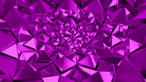 Pink Geometric Triangle Wall waving background. Seamless Loop 4K UHD Live Action