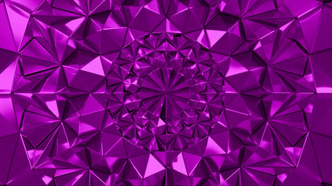Pink Geometric Triangle Wall waving background. Seamless Loop 4K UHD Footage