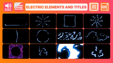 Electric Elements And Titles After Effects Template