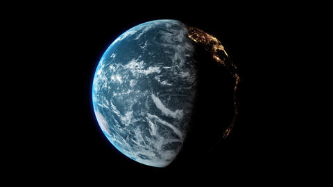 Earth View - 360 LOOP 4K - Centered Animation