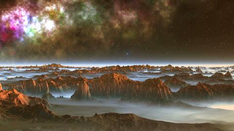 Alien Moon and Nebula Animation