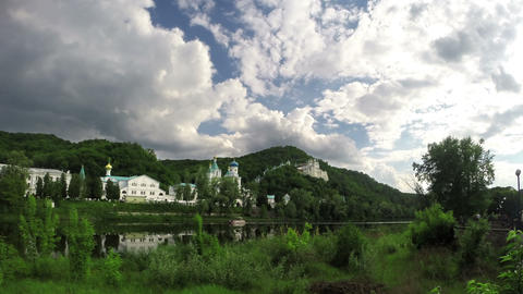 Orthodox monastery on river Live Action