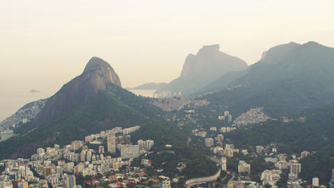 Flying over Rio de Janeiro, Brazil in a helicopter Footage
