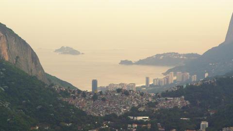 Rio de Janeiro nestled between mountains in Brazil Footage