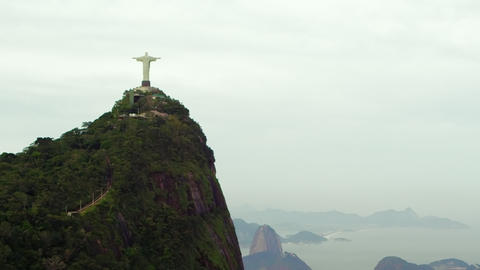 Shot of Rio de Janeiro, Brazil from a helicopter overhead Footage