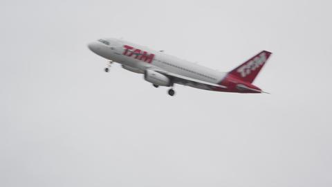 RIO DE JANEIRO, BRAZIL - JUNE 23: Airplane taking off on June 23, 2013 in Rio de Live Action