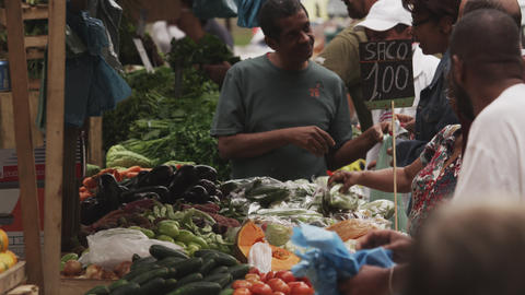 RIO DE JANEIRO, BRAZIL - JUNE 23: Slow motion, buying at market on June 23, 2013 Footage