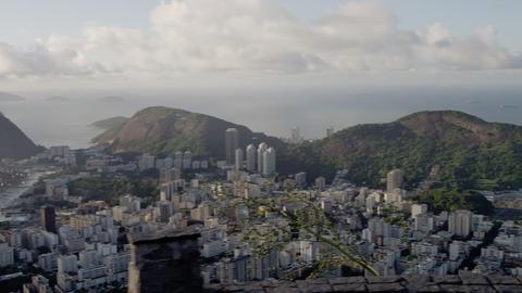 Tilting shot of shanties in Rio de Janeiro, Brazil Footage