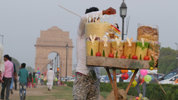 Street seller at India Gate,New Delhi,India Footage