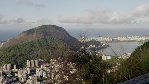 Static shot of a part of a favela in Rio de Janeiro, Brazil Footage