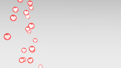 Social love heart icon looped animations Footage