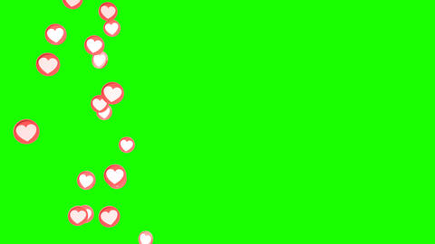 Social love heart icon looped animations Animation