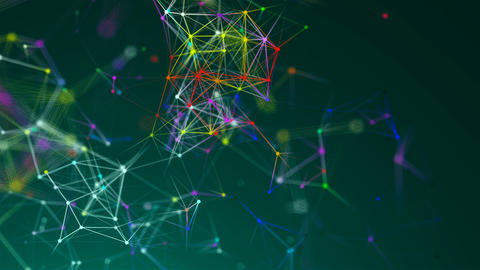 Abstract connection dots. Technology background. Network concept Footage
