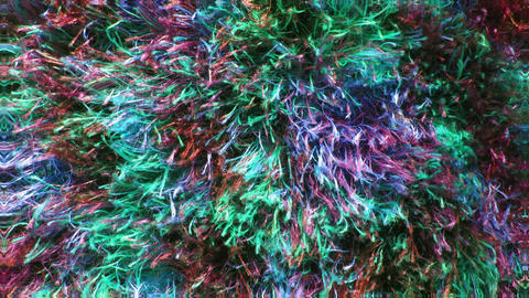 Multicolored rainbow furry texture in tunnel motion, colorful effective motion Animation