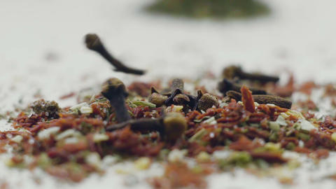 Aromatic spices, Dried cloves and herbs Footage