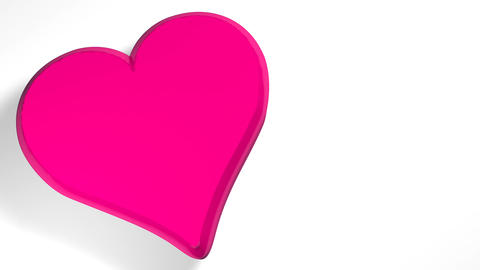 Words I LOVE YOU coming out of the interior of a pink... Stock Video Footage