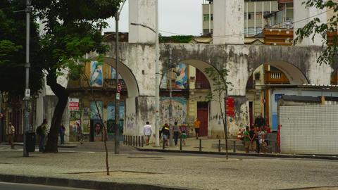 RIO DE JANEIRO, BRAZIL - JUNE 23: Static shot of street in Rio de Janeiro on Jun Footage