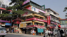 Busy main square,McLeod Ganj,India Footage
