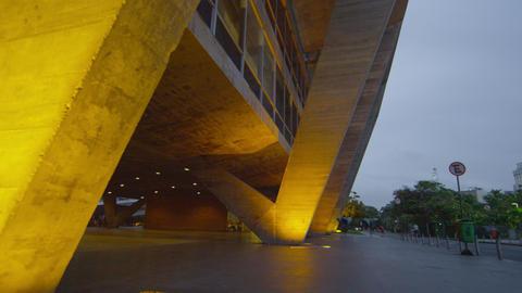 Tilt shot of a building in the city in Rio de Janeiro, Brazil Footage
