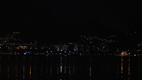 Timelapse shot of water and city of Rio de Janeiro, Brazil Footage