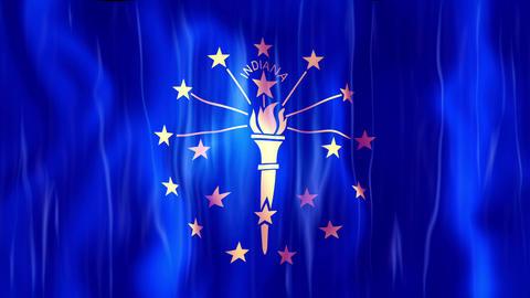 Indiana State Flag Animation Animation