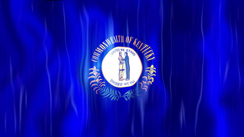Kentucky State Flag Animation Animation