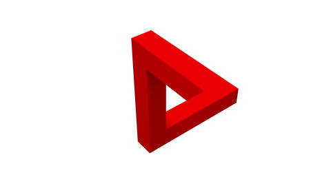abstract optical illusion of triangle on white background Animation