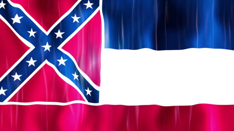 Mississippi State Flag Animation Animation