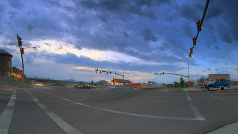 Time-lapse shot of busy intersection in Utah Footage