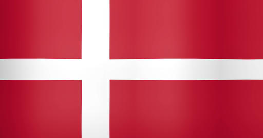 Waving Flag of Denmark Looping Background Live Action