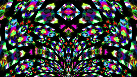 Colorfull abstraction Spider Video ARt Vj Loop Live Action