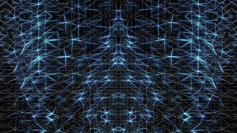 Polygonal Wireframe blue video texture art vj loop Live Action