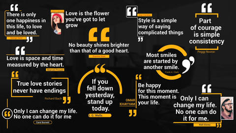 Quotes Titles Pack After Effects Template