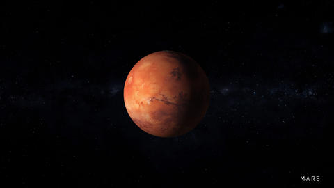 Mars is the fourth planet from the Sun Footage
