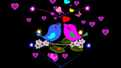 ROMANTIC LOVE-valentines day greetings card Stock Video Footage