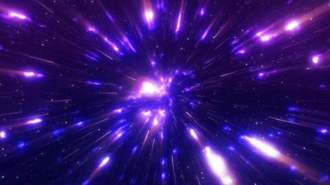 Hyperspace gas nebula Stock Video Footage