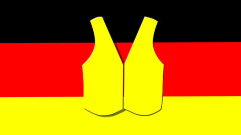 yellow vest on the German flag Animation