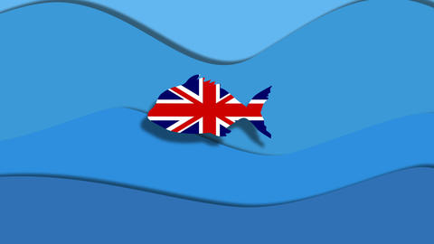 Great Britain free fish Animation