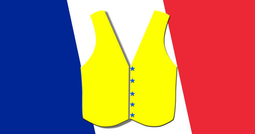 yellow vest of the French flag Animation