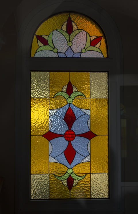 Stained glass of the Orthodox Church Photo