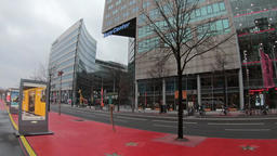 Time Lapse: Traffic And Advertisement For Berlinale Film Festival 2019 Footage