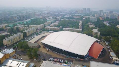 Sports facility. Stadium Yenisei ( Yenisei Ice Stadium ). Russia, Krasnoyarsk, Live Action